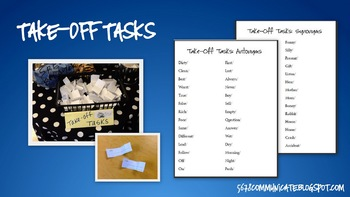 Take Off Tasks: Synonyms