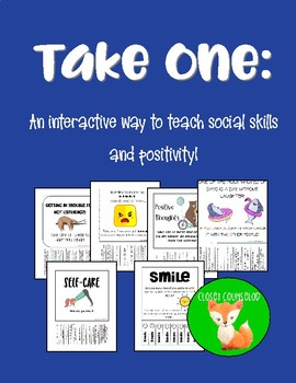 Take One: An interactive way to teach kindness, cheer and