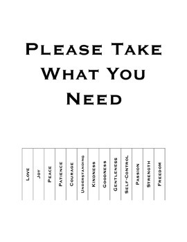 Take What You Need Sign