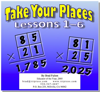 Take Your Places, Part 1: Lessons 1–6