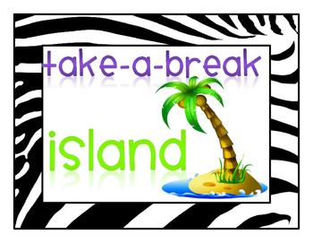 Take a Break Island Sign