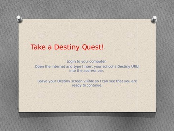 PPT: Help Your Students Set Up Destiny Quest Accounts