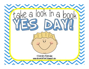 Take a Look in a Book- YES DAY by Amy Krouse Rosenthal