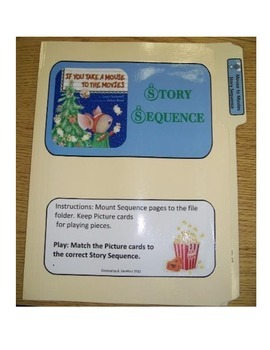 Take a Mouse to The Movies Story Sequence--file folder