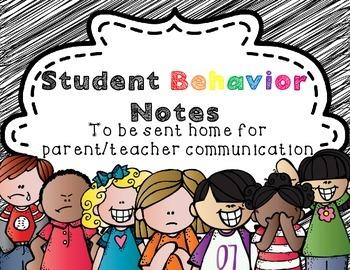 Take home Behavior Notes