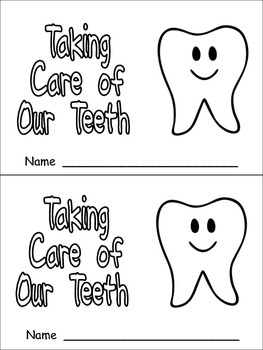 Taking Care of Our Teeth Emergent Reader for Kindergarten-