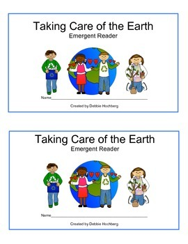 Earth Day--EMERGENT READER--Taking care of the Earth
