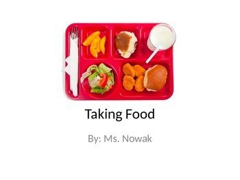 """Taking Food"" Social Story"