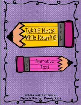 Taking Notes While Reading Narrative Text