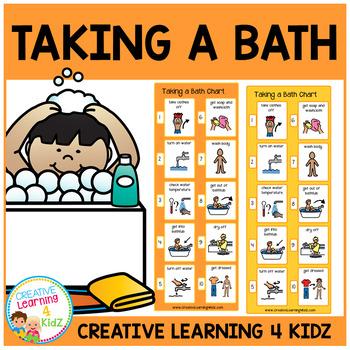 Taking a Bath (Girl & Boy) Visual Charts