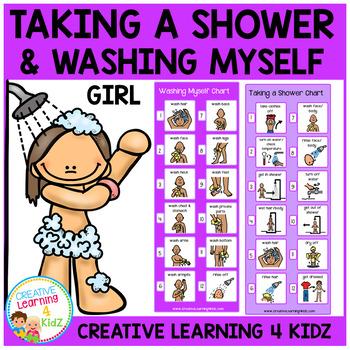 Taking a Shower (Girl) & Washing Myself (Girl) Visual Charts