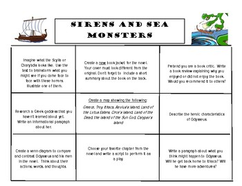 Tales from the Odyssey Book 3: Sirens and Sea Monsters Cho
