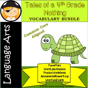Tales of a 4th Grade Nothing Vocabulary Bundle/Common Core
