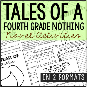 Tales of a Fourth Grade Nothing Interactive Notebook Novel