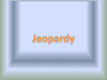 Tales of a Fourth Grade Nothing Jeopardy