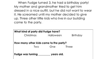 Tales of the Fourth Grade Nothing Modified Guided Reading Packet