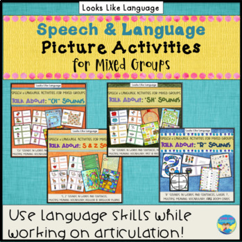 Speech Therapy Articulation & Language Pictures Bundle- R,