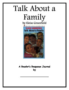 Talk About a Family by Eloise Greenfield Student Journal