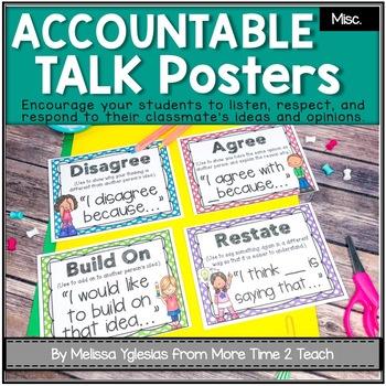 Talk It Up! (polka dots) Accountable Talk/ Collaborative C