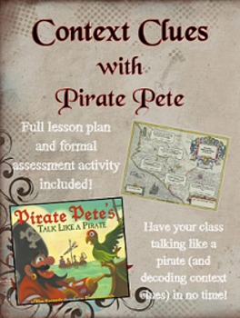 Talk Like a Pirate with Pirate Pete! {Context Clues Mentor Text}