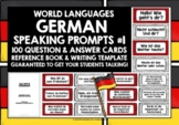 GERMAN SPEAKING PRACTICE (1) - 50 QUESTION & ANSWER PROMPT CARDS
