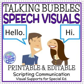 Talking Bubbles Script- Modeled Language for Autism