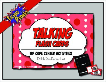 Talking Flash Cards - QR Code Differentiated Center Activi