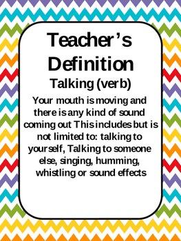 Classroom Management Chevron Talking Poster