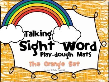 Talking Sight Word Play-dough Mats - The Orange Set