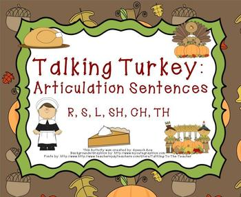 Talking Turkey: Articulation Sentences (R,S,L,SH,CH,TH)