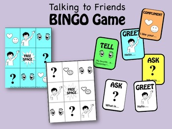 Talking to Friends BINGO Game-teaching Social Interactions