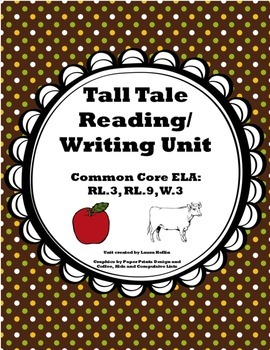 Tall Tale Unit- Reading and Writing- Common Core ELA RL.3,