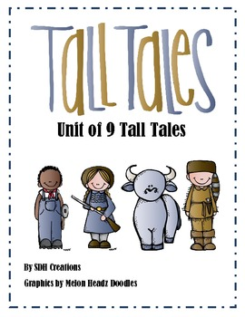 Tall Tales Unit (Folktales):using 9 Tall Tales by Second Grade Positivity