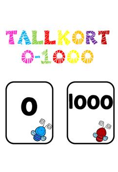 Tallkort 0-1000