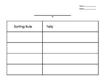 Tally Chart Scaffolding.
