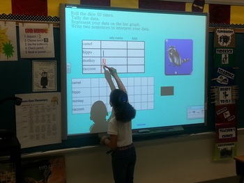 Tally Chart/Bar Graph Smartboard Activity