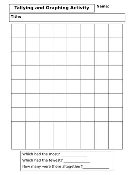 Tally & Graphing Activity ~ Vertical