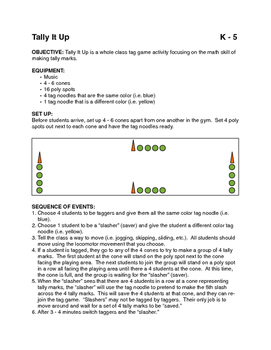 Tally It Up tag game for PE