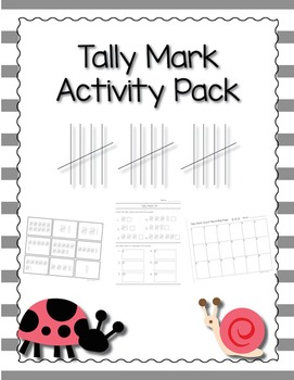 Tally Mark Activity Pack Bundle