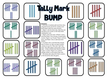 Tally Mark Bump - A 2-Player Game to Practice Identifying