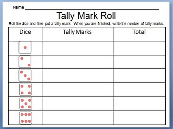 Tally Mark Dice Roll Game