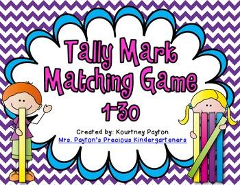 Tally Mark Matching Game 1-30