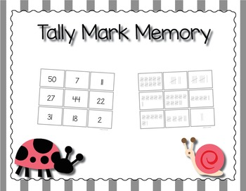 Tally Mark Matching Memory Game