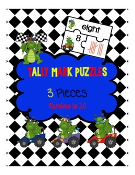 Tally Mark Puzzles (3 Piece Puzzles)