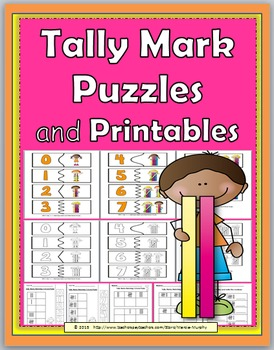Tally Marks Self-Correcting Number Puzzles and Printables