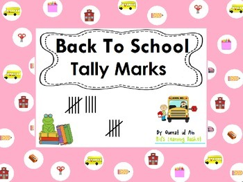 Tally Marks---Back to School: