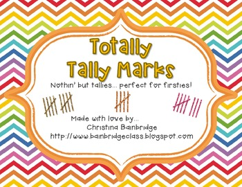 Totally Tally Marks Center Set- Perfect for First Grade!