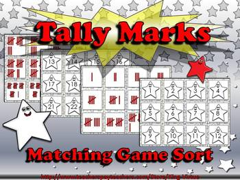Tally Marks Matching Sort Game - Superstars Theme - King Virtue