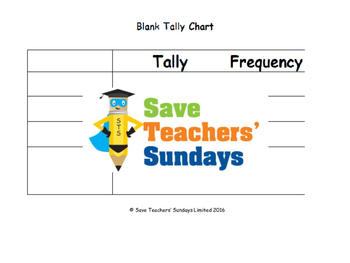 Tally charts lesson plans, worksheets and more