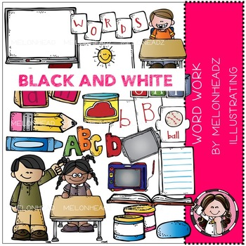 Tammy's word work by Melonheadz BLACK AND WHITE
